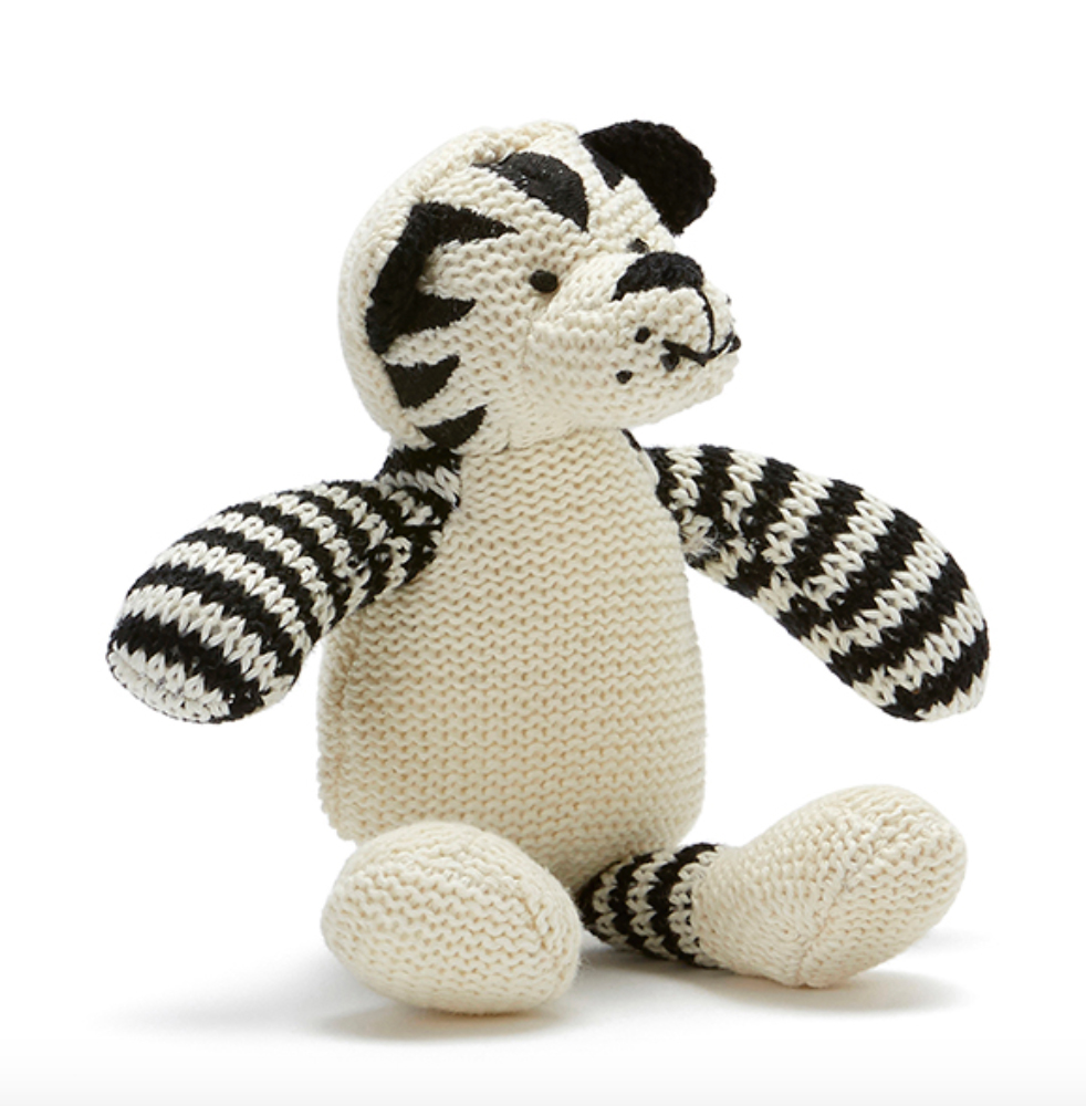 Tommy The Tiger Baby Rattle by NANA HUCHY