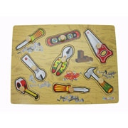 Wooden knob Tools puzzle by Kaper Kids