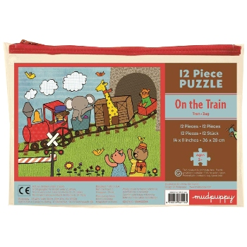 Mudpuppy 12 Piece Puzzle -- On the Train