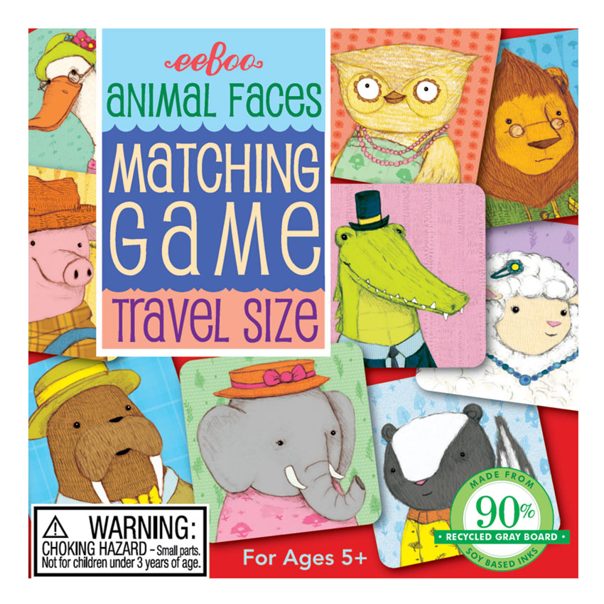 Matching travel game - animals