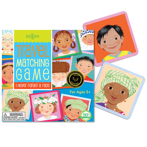 eeBoo matching faces memory game