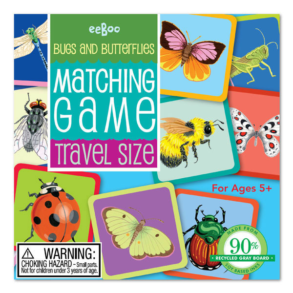 eeBoo Buterfly memory game