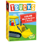 Match Up Game & Puzzle, Trucks - Colors