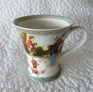 Village Frolic Mug set x 2 x Somerton Green