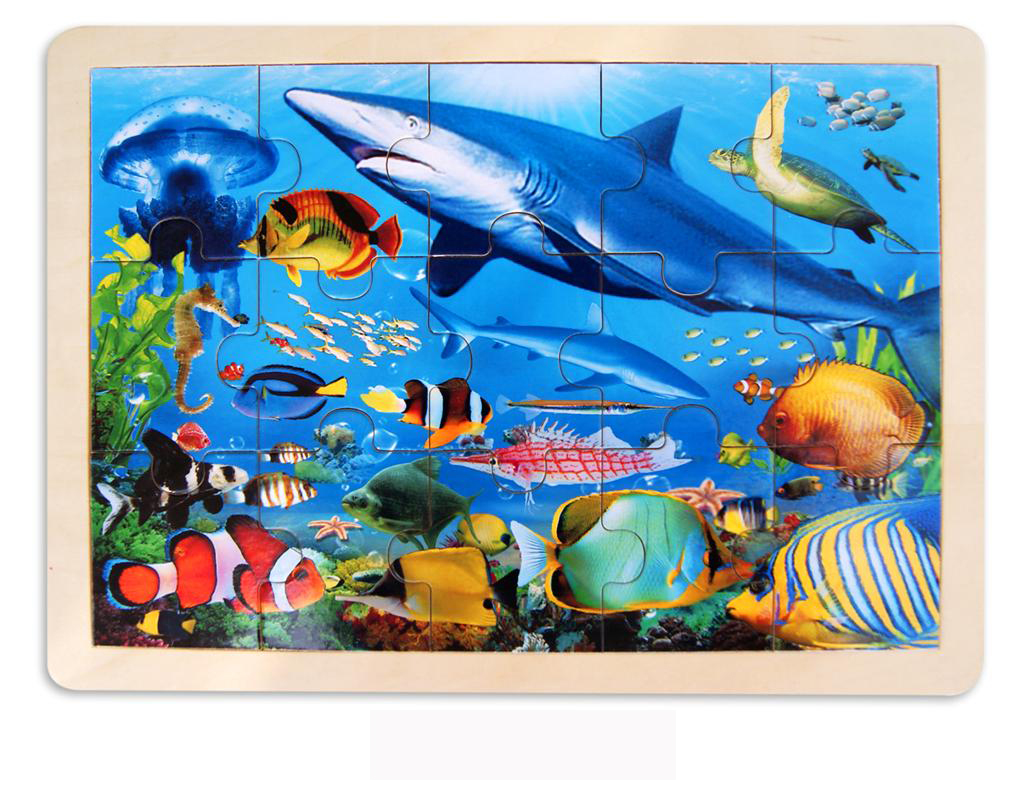 Wooden SeaLife ~ Shark Jigsaw Puzzle by Fun Factory
