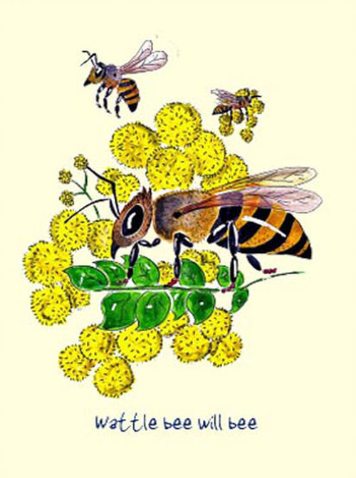 Australian Greeting Card ~ What will Bee will Bee