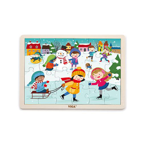 Winter wooden puzzle x Viga Toys 2+
