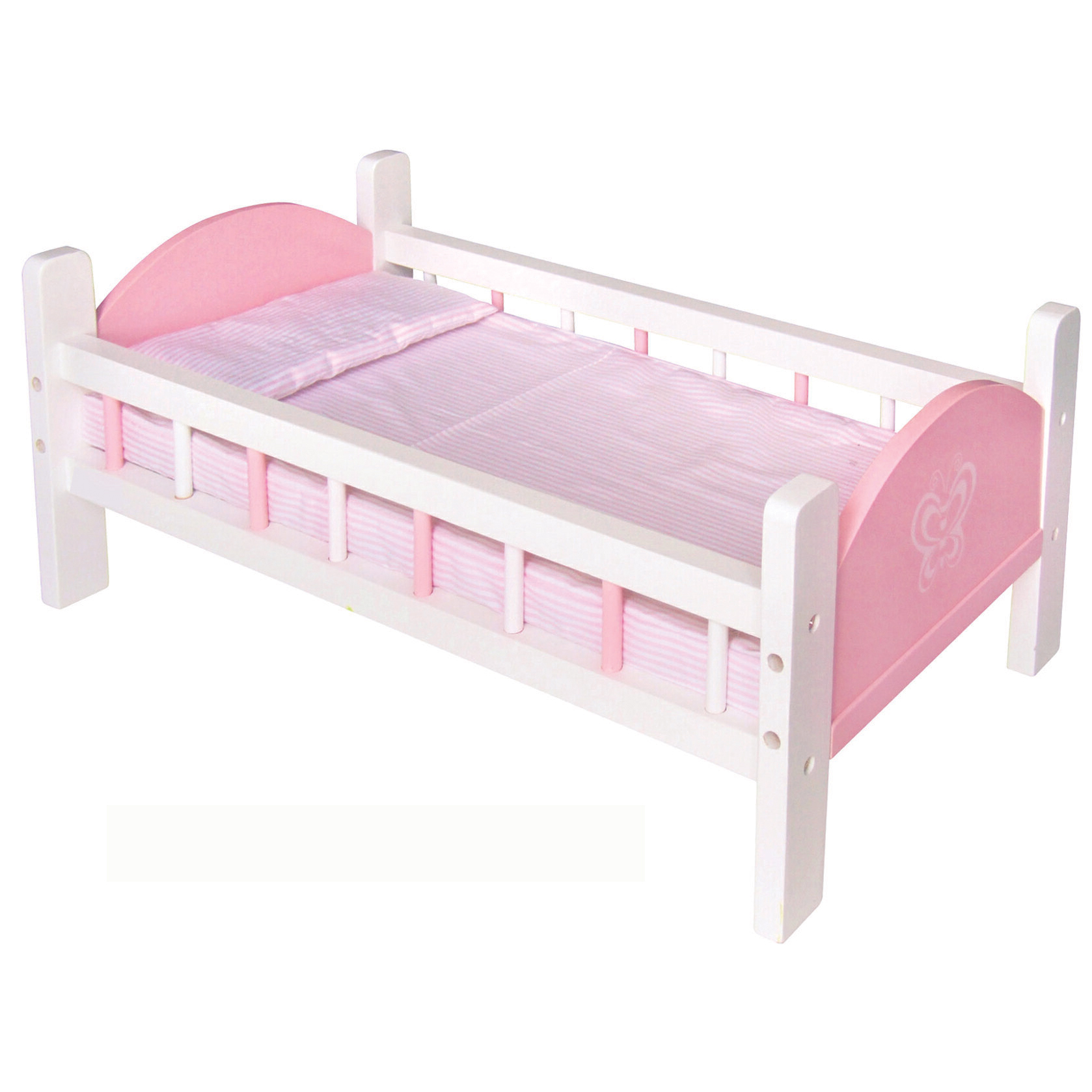 Wooden Doll Pink Bed By Viga Toys Romantic Flair Original