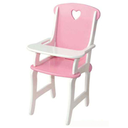 Wooden Doll High Chair by Fun Factory Toys