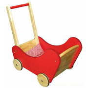 Wooden Doll Red Buggy by Viga Toys