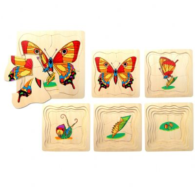 Wooden Butterfly Layer Puzzle