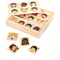 Matching Expression Wooden Game by Fun Factory