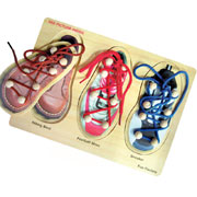 Wooden Shoe Lacing Puzzle