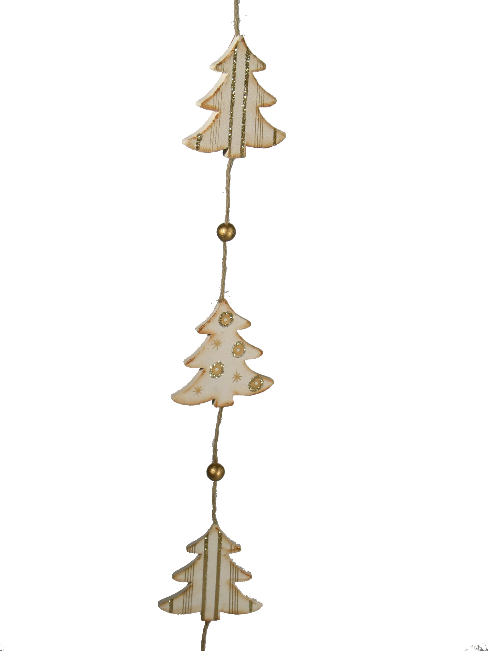 Christmas wooden tree garlands