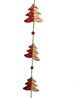 Wooden Christmas Tree Garland