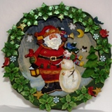Wooden Santa Wreath
