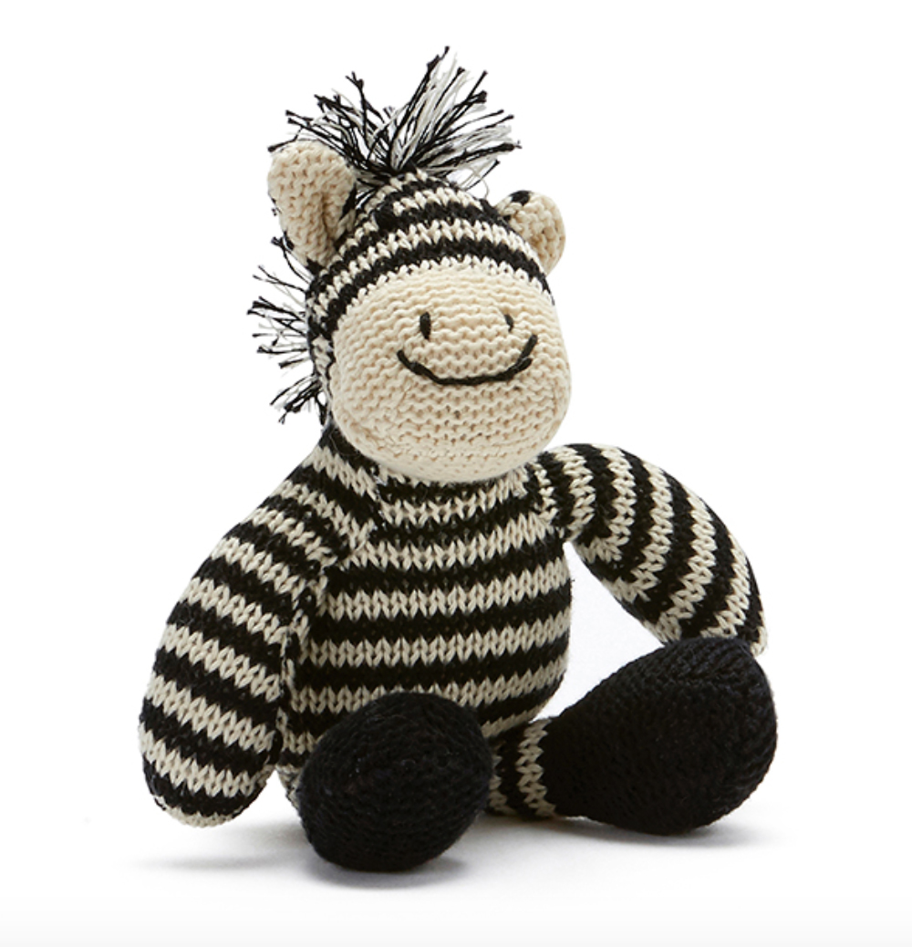Zac The Zebra Baby Rattle by NANA HUCHY