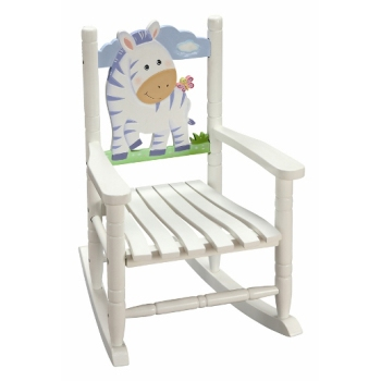 Zebra Rocking Chair by Teamson