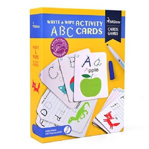 MiDeer ~ Write & Wipe learning cards - Alphabet