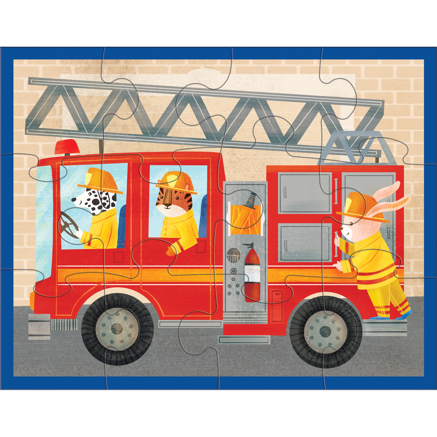 Mudpuppy 12 Piece Puzzle ~ Fire Truck