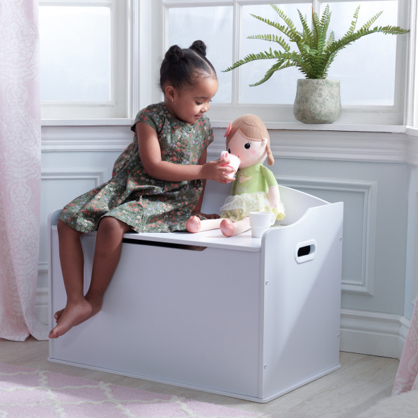 Wooden Austin Toy Box White Kidkraft
