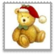 Personalised Christmas Bauble Bear Design O9