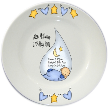 PERSONALISED KEEPSAKE ~~ Baby Porcelain Birth Plate