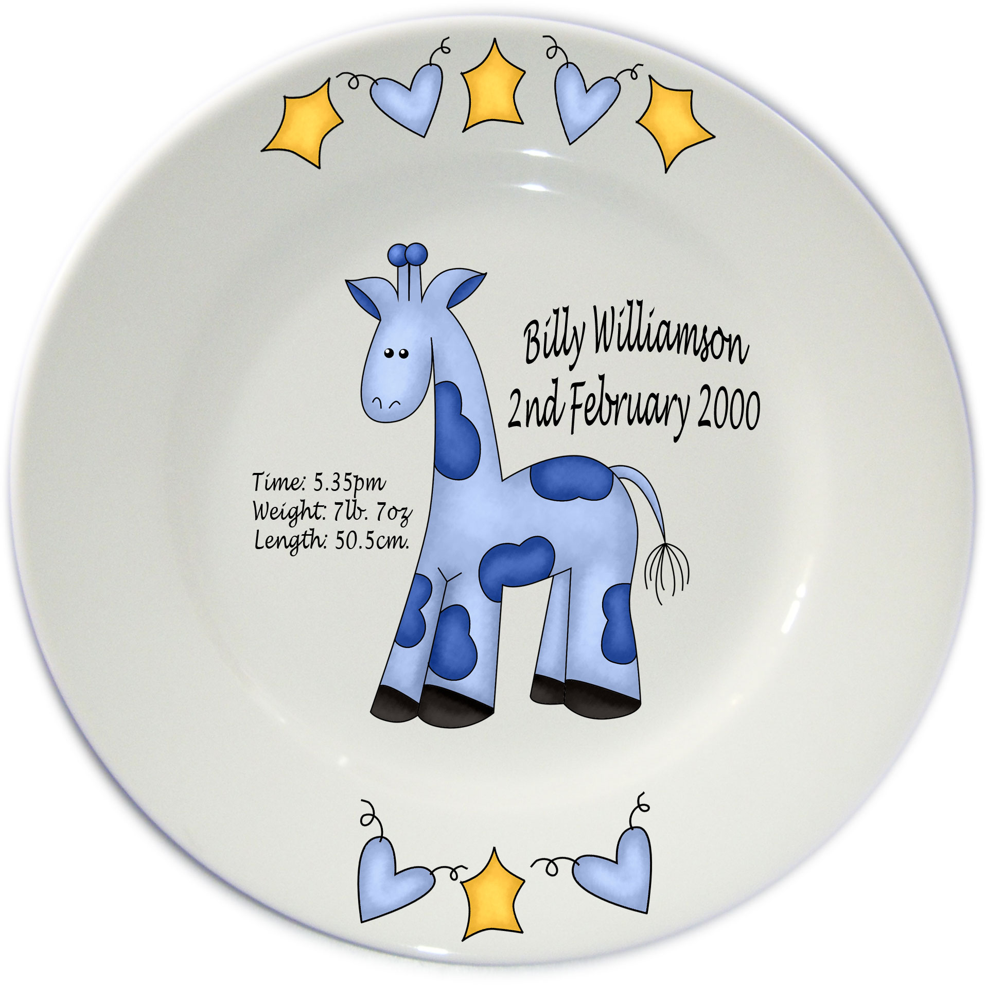 Personalised Baby Birth Porcelain Plate