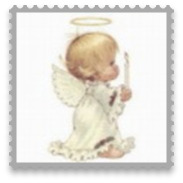 Personalised Christmas Bauble E1 - Angel Cherub Collection