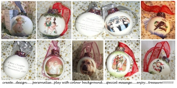 Christmas Ceramic Baubles - Full  Range to choose from