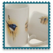 Australiana Blue Wren Mug Collection