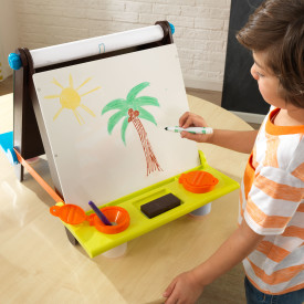 Wooden Tabletop Easel - Espresso with Brights by Kidkraft