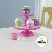 Wooden Cupcakes Stand with Cupcakes by Kidkraft