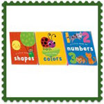 Board Books set x 3 shapes,numbers,colours