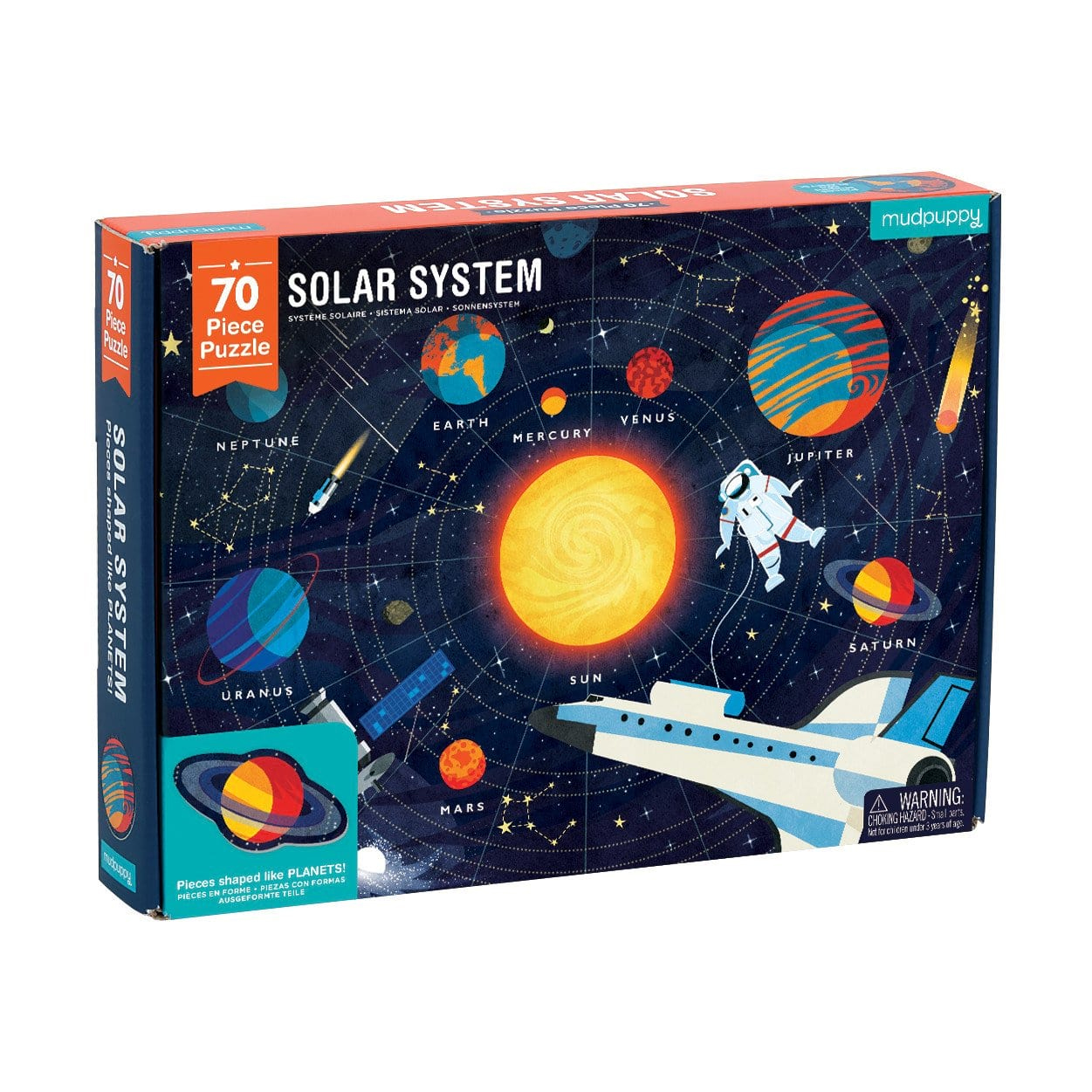 Solar System Puzzle ~ Geography ~ Space Puzzle by Mudpuppy 70pc