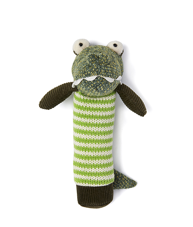 Albert the Croc Baby Rattle by NANA HUCHY