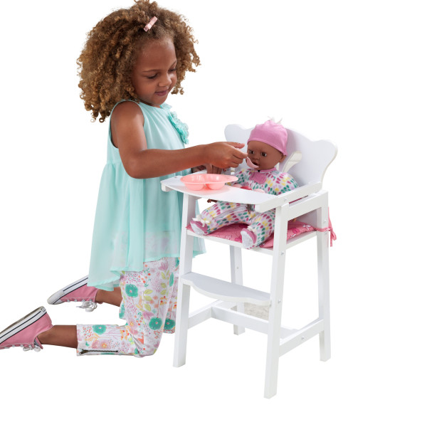 Wooden Lil' Doll High Chair by Kidkraft