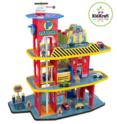 Deluxe Wooden Garage Set by Kidkraft x 15 pieces