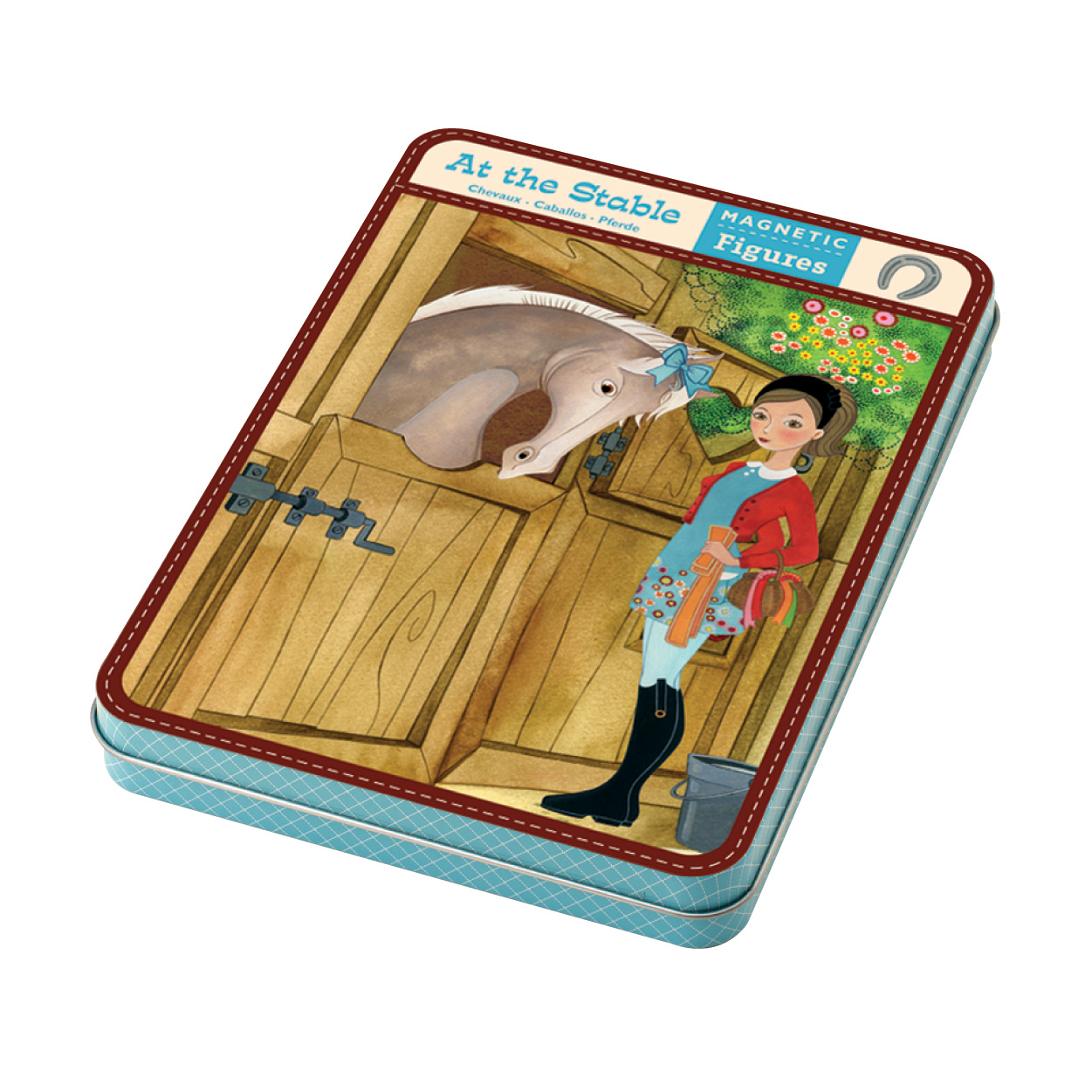 Mudpuppy -- Magnetic Design Play set --Dress up at Stable