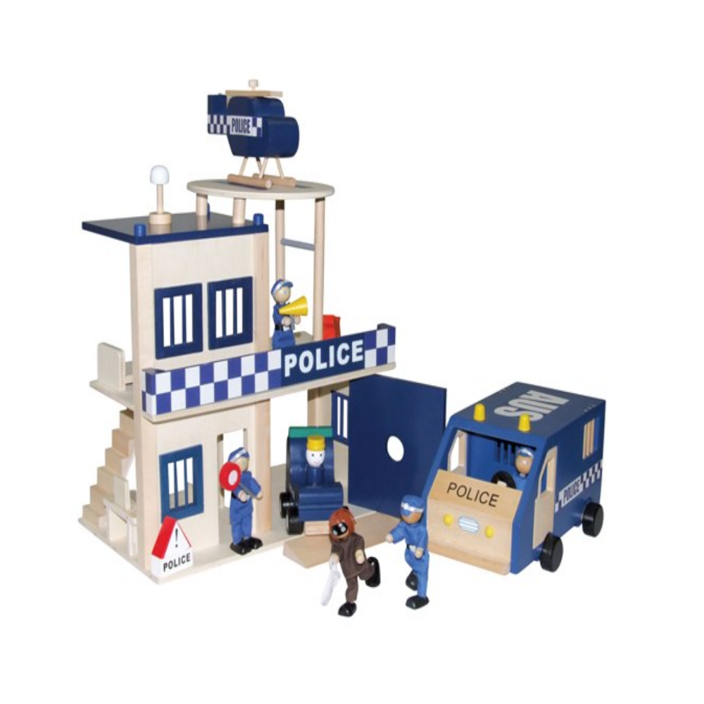 Wooden Police Station by Timbertop Toys