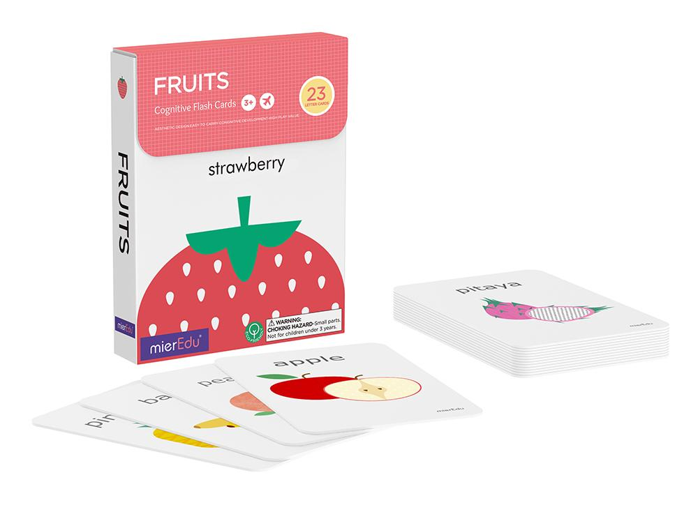 Cognitive Flash Cards - Fruits by mierEdu
