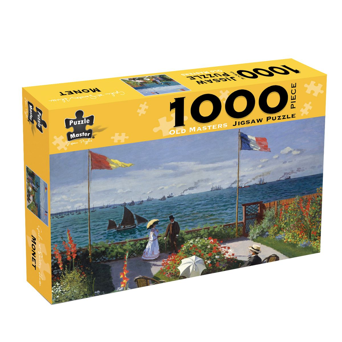 Puzzlers World Old Master 1000pc Jigsaw Puzzle Garden at Sainte-Adresse by Monet
