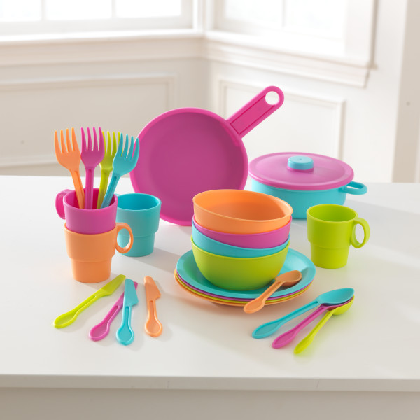27-Piece Bright Cookware Playset by Kidkraft