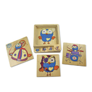 Layer puzzle 4 in 1 Hoot by Discoveroo
