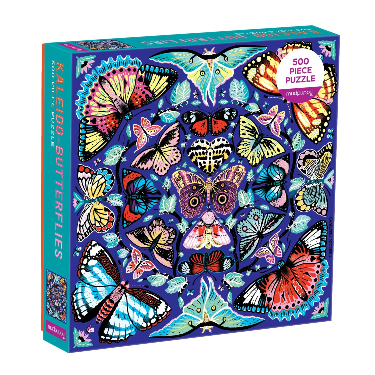 Kaleido Butterflies 500pc Family Jigsaw Puzzle by Mudpuppy