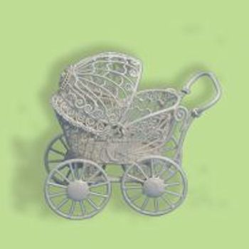 MINIATURE--ANTIQUE PRAM