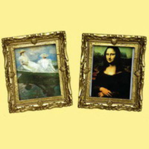Miniature  Mona Lisa & Monet Paintings
