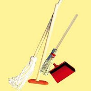 MINIATURE -- MOP/BROOM SET-DUSTPAN/BROOM