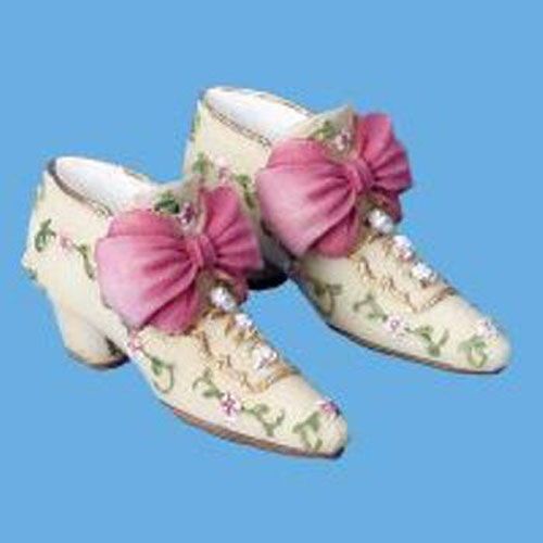Miniature -- Shoes-Cream & Pink