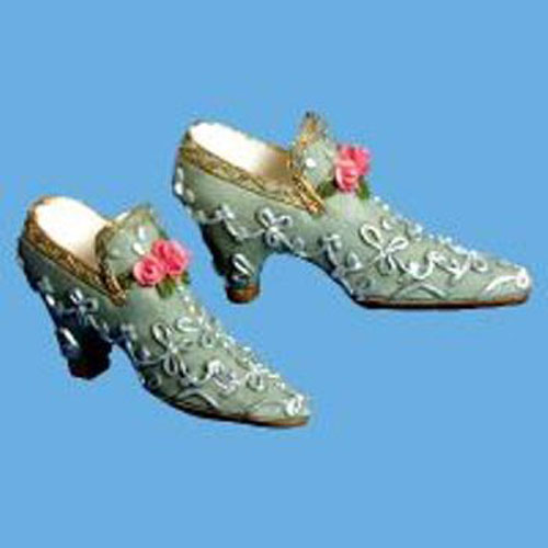 MINIATURE  SHOES - TEAL GREEN